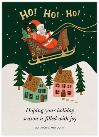 Christmas Delivery - Light - Rifle Paper Co. - Virtual baby shower