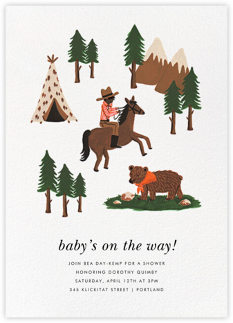 Go West - Deep - Rifle Paper Co. - Baby Shower Invitations