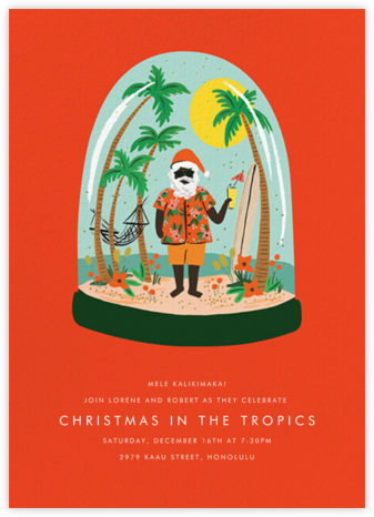 Wish You Were Here - Deep - Rifle Paper Co. - Christmas Party Invitations