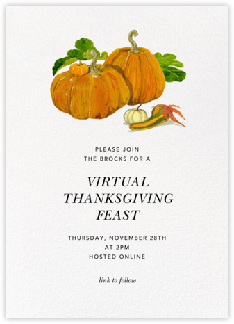 Squash Family - Felix Doolittle - Thanksgiving invitations