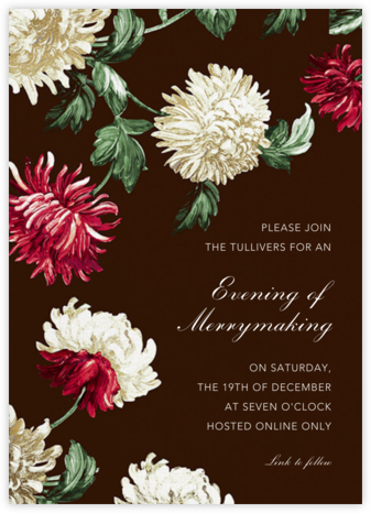 Chrysanthemum - Oscar de la Renta - Holiday invitations