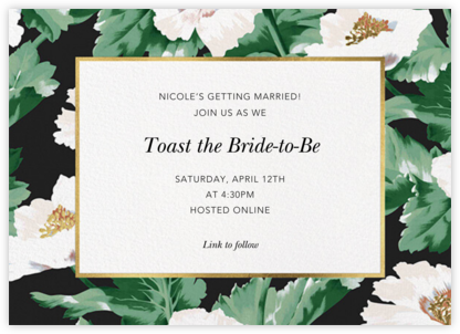Prim Peony - Oscar de la Renta - Bridal shower invitations