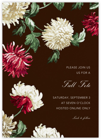 Chrysanthemum - Oscar de la Renta - Fall Entertaining Invitations