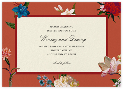 Botanist - Oscar de la Renta - Adult Birthday Invitations