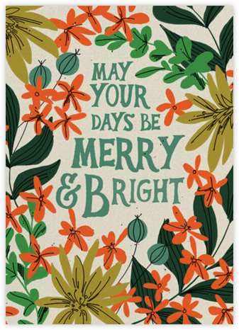 Bright and Merry (Dylan Mierzwinski) - Red Cap Cards - Holiday Cards
