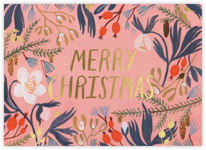Winter Flowers (Kelsey Garrity Riley) - Red Cap Cards - Christmas Cards