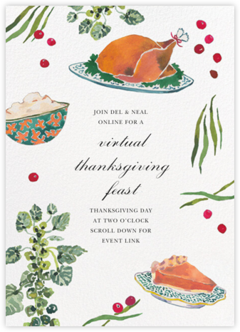 Artful Table - Happy Menocal - Thanksgiving invitations