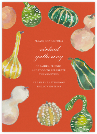 Gathered Gourds - Happy Menocal - Thanksgiving invitations