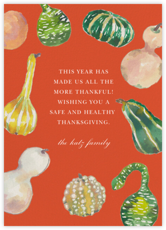 Gathered Gourds - Happy Menocal - Thanksgiving Cards