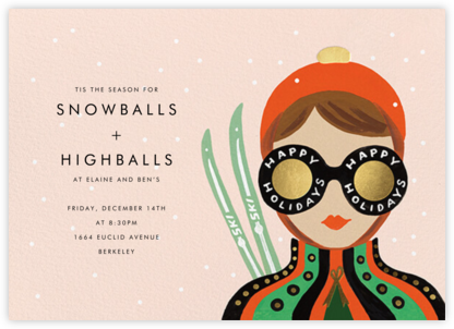 Ski Shades - Light - Rifle Paper Co. - Holiday invitations