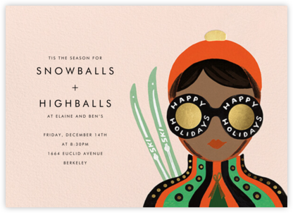 Ski Shades - Tan - Rifle Paper Co. - Business Party Invitations