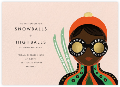 Ski Shades - Deep - Rifle Paper Co. - Winter Party Invitations