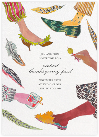Pattern Mixer - Happy Menocal - Thanksgiving invitations