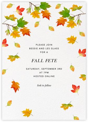 Falling Foliage - Felix Doolittle - Fall Entertaining Invitations