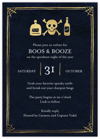 Ye Old Party - Black - Paper Source - Halloween invitations