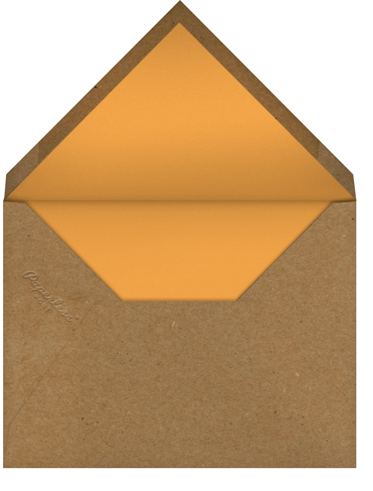 Fall Colors - Paper Source - Thanksgiving - envelope back