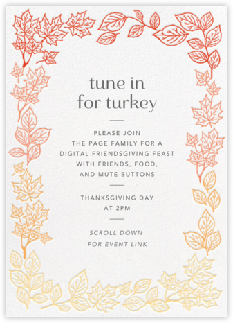 Fall Colors - Paper Source - Thanksgiving invitations