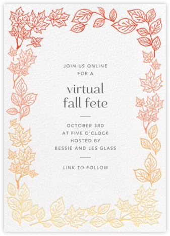 Fall Colors - Paper Source - Fall Entertaining Invitations