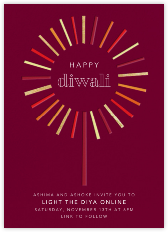 Night of the Sparkler - Paperless Post - Diwali Invitations