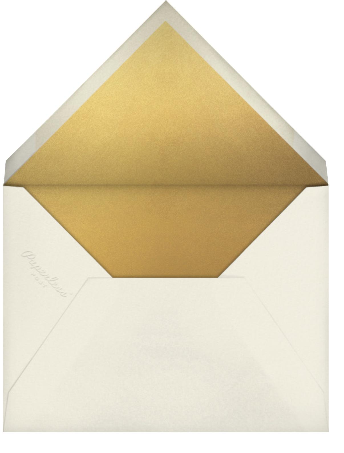Silk Road - Geranium/Gold - Crane & Co. - Envelope