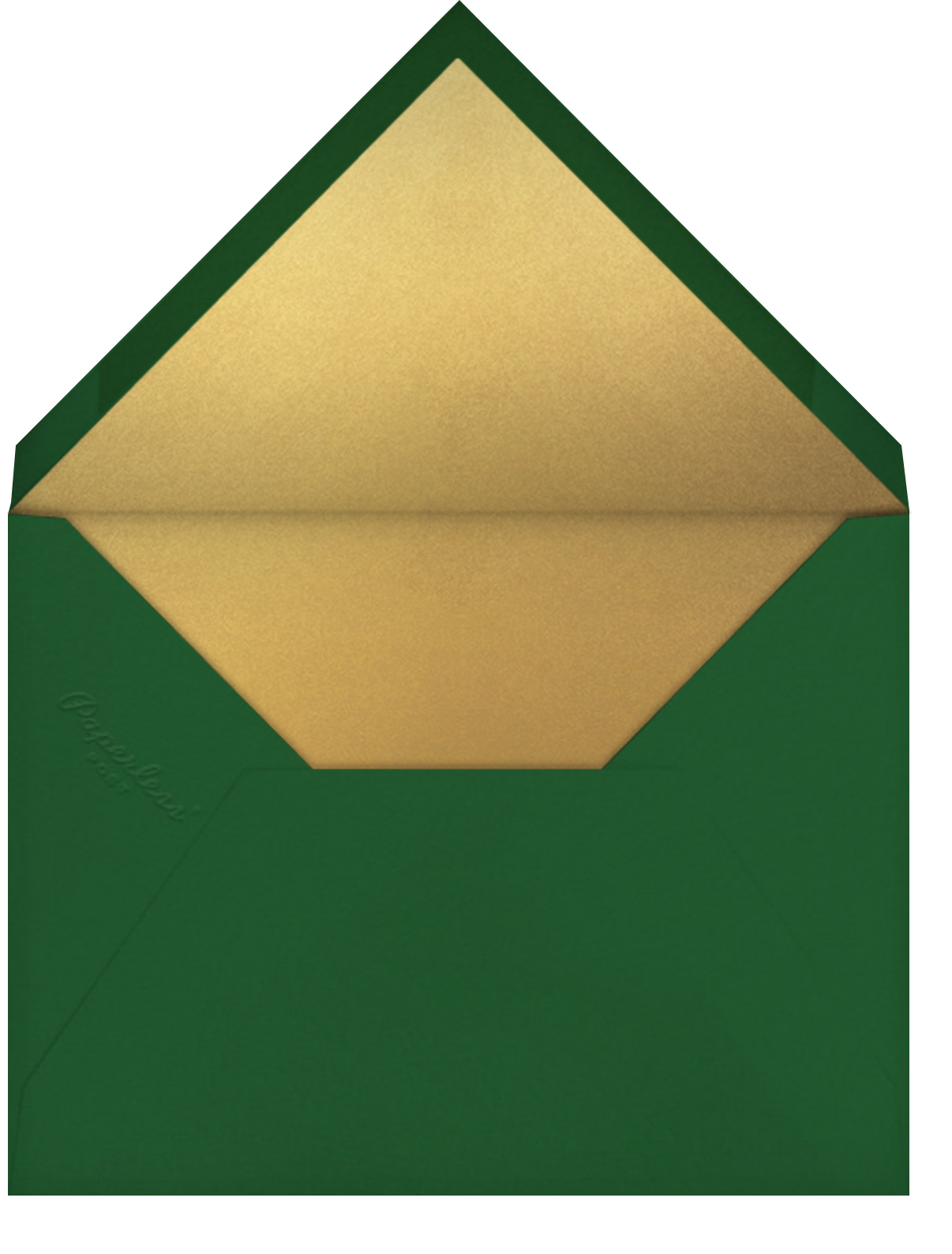 Dancer - Paperless Post - Christmas party - envelope back