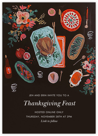 Thanksgiving Feast - Rifle Paper Co. - Virtual Parties