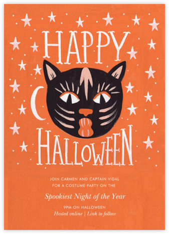 Halloween Cat - Rifle Paper Co. - Virtual Parties