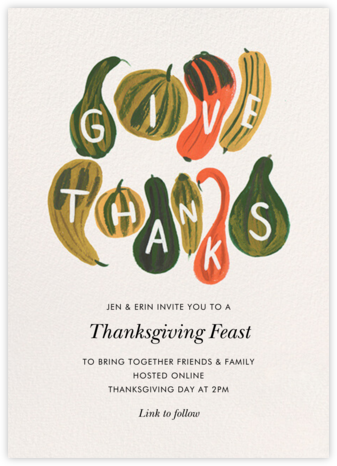 Thankful Cornucopia - Rifle Paper Co. - Thanksgiving invitations