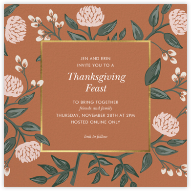 Peonies Burnt Sienna - Rifle Paper Co. - Thanksgiving invitations