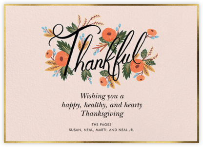 Thankful Bouquet - Rifle Paper Co. - Thanksgiving Cards