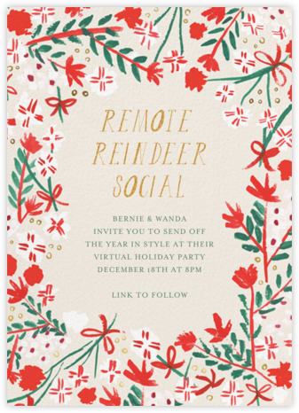 Merry Florals - Mr. Boddington's Studio - Holiday invitations