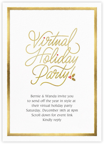 Spirited Script - Virtual - Paperless Post - Holiday invitations