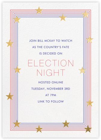 Starry Spectrum - Paperless Post - Election Night Invitations