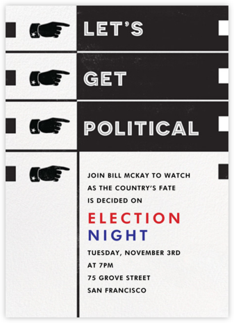 Let's Get Political - Paperless Post - Online Party Invitations