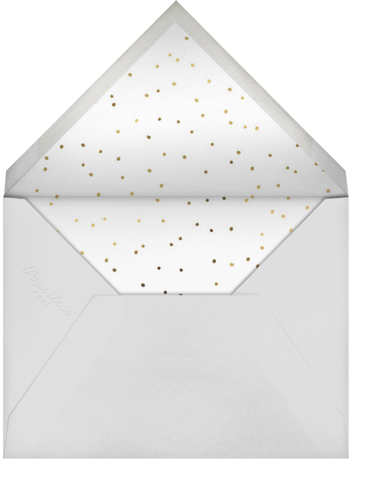Xmas Heart - Sugar Paper - Christmas party - envelope back