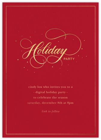Jolly Holiday - Sugar Paper - Holiday invitations