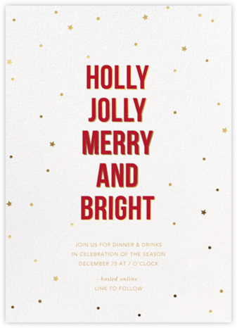 Holly Night - Sugar Paper - Holiday invitations