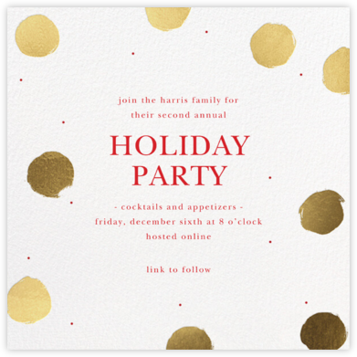 Painted Dots - Sugar Paper - Holiday invitations