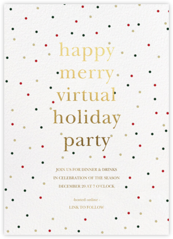 Holiday Sprinkles - Sugar Paper - Holiday invitations