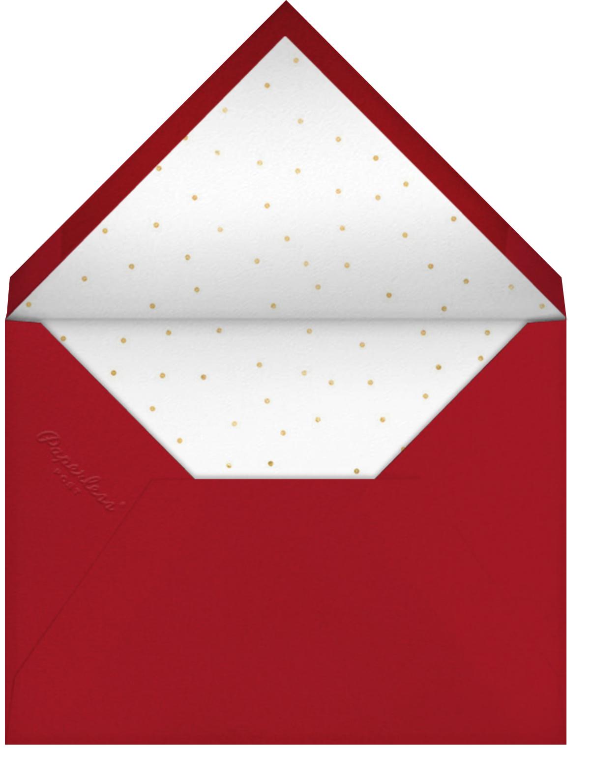 Holiday Hearts - Sugar Paper - Christmas party - envelope back