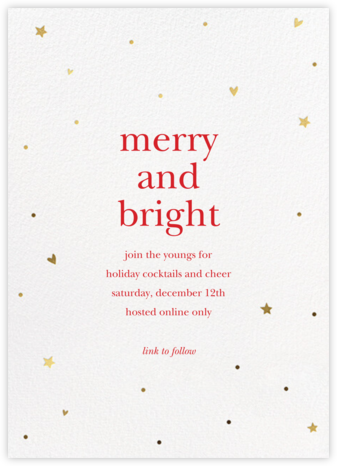 Holiday Hearts - Sugar Paper - Holiday invitations