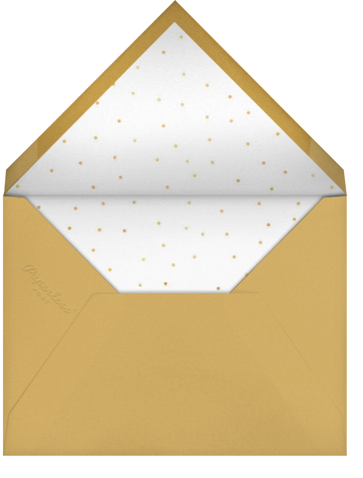 Tartan Soirée - Sugar Paper - Holiday party - envelope back