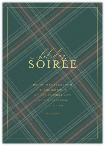 Tartan Soirée - Sugar Paper - Virtual Parties
