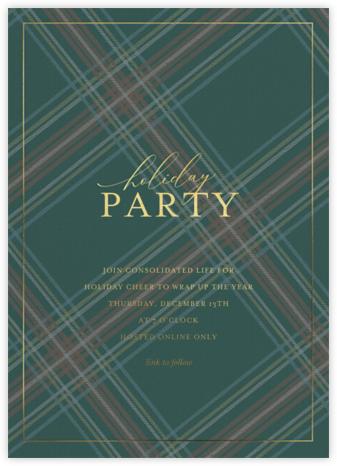 Tartan Soirée - Sugar Paper - Company holiday party