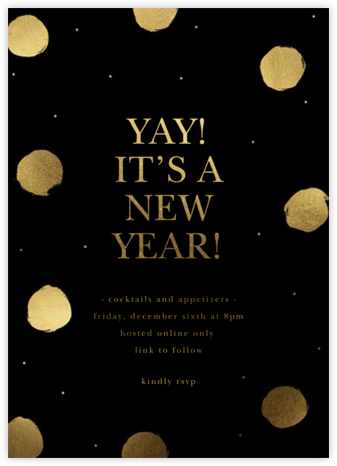 Midnight Dots - Sugar Paper - New Year's Eve Invitations