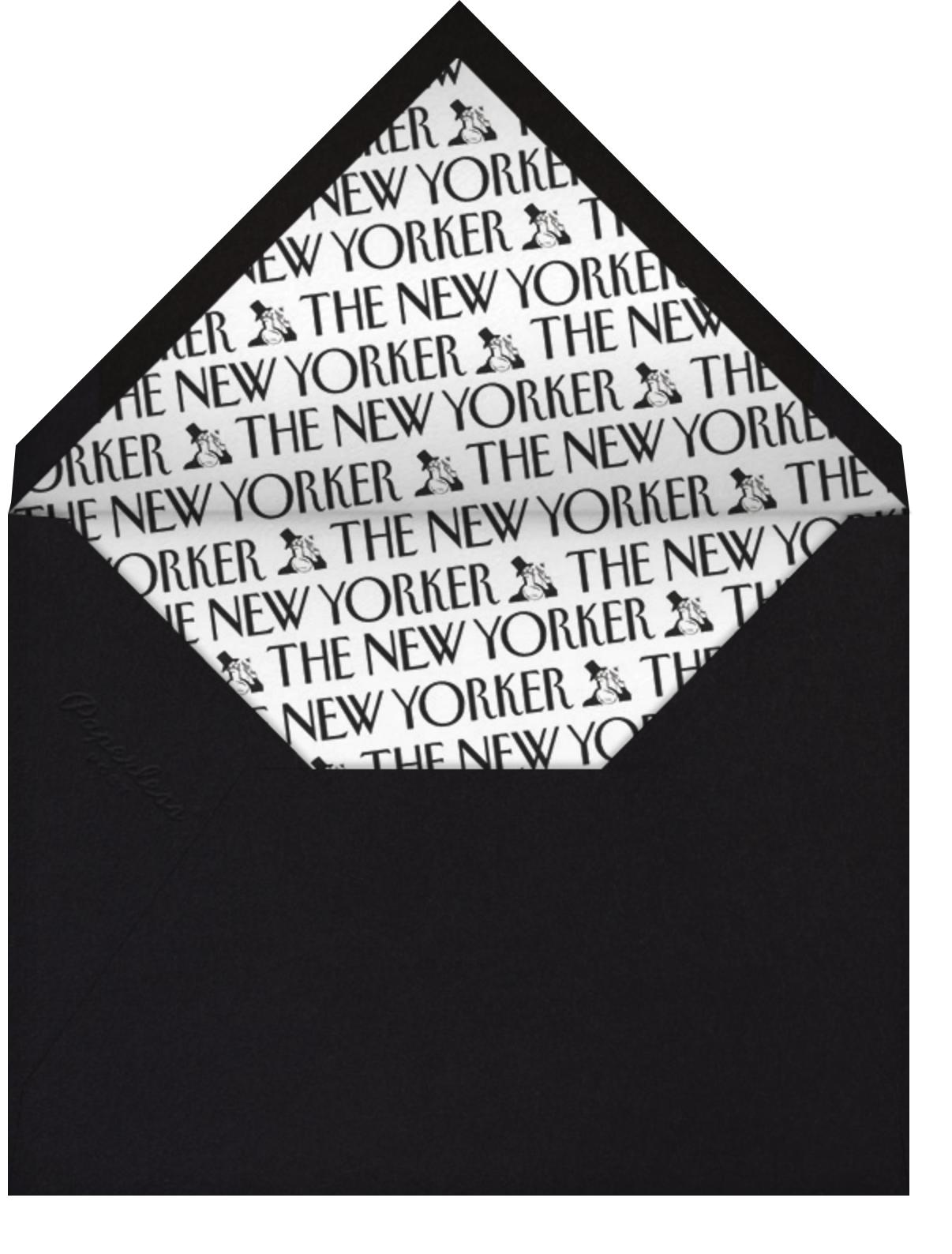 Nontraditional Thanksgiving - The New Yorker - Thanksgiving - envelope back