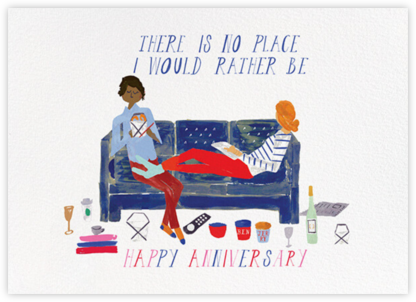 Cheers from the Couch - Tan/Medium - Mr. Boddington's Studio - Anniversary Cards