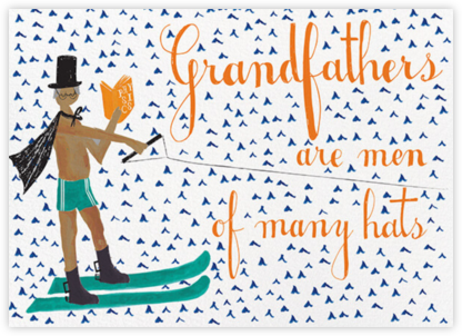 Grandfather is Waterskiing Again - Tan - Mr. Boddington's Studio - Father's Day Cards