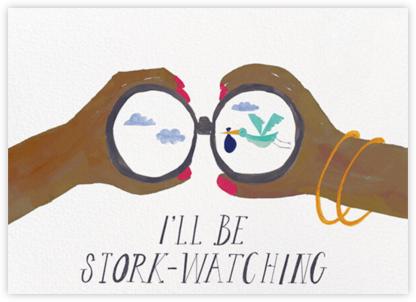 Stork Watch - Tan - Mr. Boddington's Studio - Congratulations cards