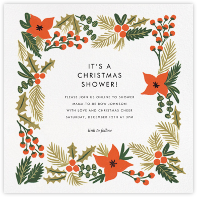 Holiday Potpourri (Square) - Rifle Paper Co. - Christmas Baby Shower Invitations